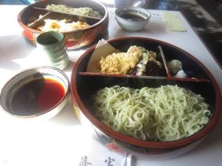 天ぷら茶そば引き