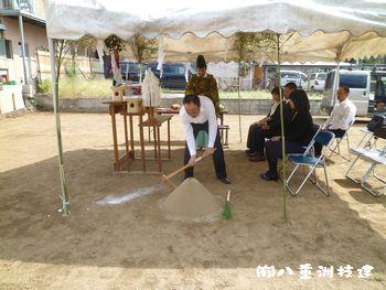 小倉北区熊本町地鎮祭②