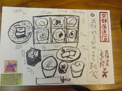 京都屋朝食メニュー