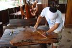 看板彫り。