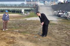 ゴルフ始球式