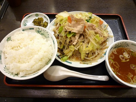 s-肉野菜炒め定食
