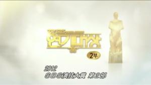 2012SBS演技大賞2部 字幕付(2012.12.31放送分)