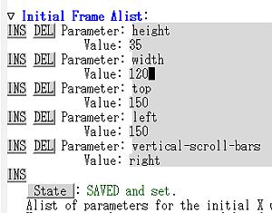 Initial Frame Alist