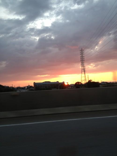 夕日がきれいでしたよ!明日晴れるかなぁ~?