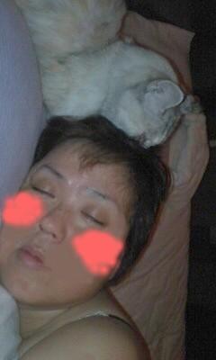 るんはいつも長老にこんな風にされて寝ています。
