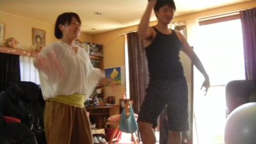 花道とちっちがダンス対決