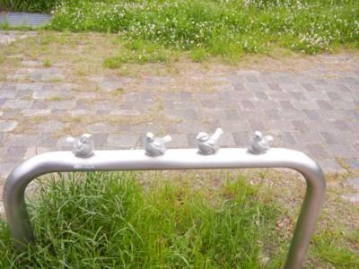 公園の出入り口ですよぉ~♪