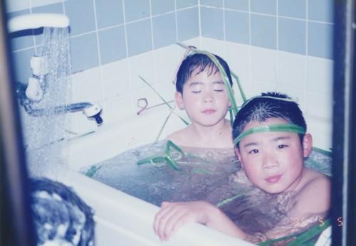 菖蒲のお風呂が大好きだったね。