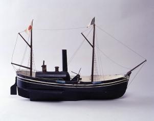 蒸気船雛形外輪船