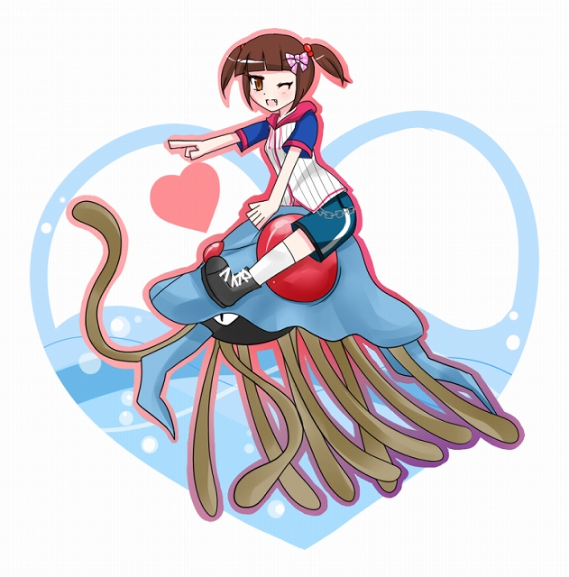 s-ミリィをドククラゲに乗せた
