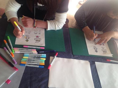 絵漢字セミナーの様子1