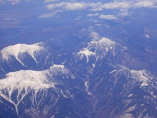 南アルプス空中撮影