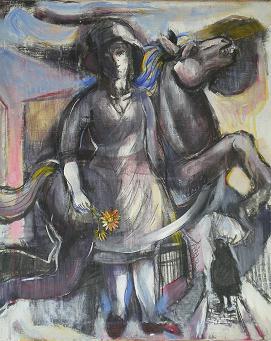 少女と馬とガーベラ