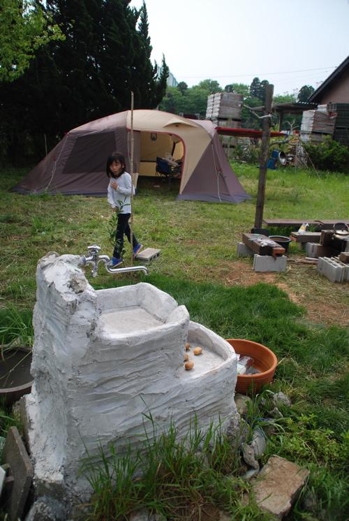 テント水場