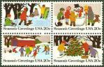 アメリカ・クリスマス切手(1982)