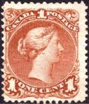カナダ1セント(1868)