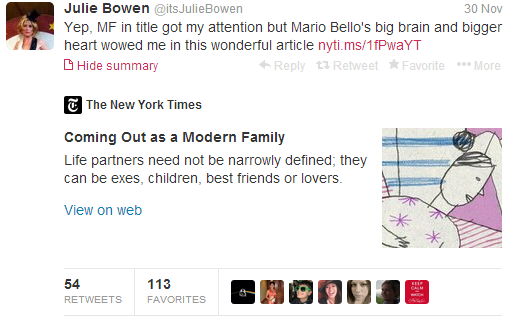 Julie Bowen itsJulieBowen on Twitter