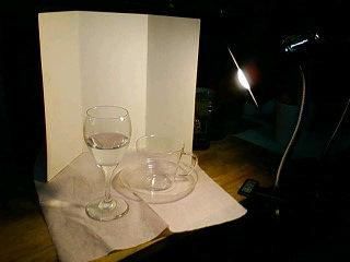 デザイン講習010 ガラス製品(水入りワイングラス・カップ&ソーサー) モデル