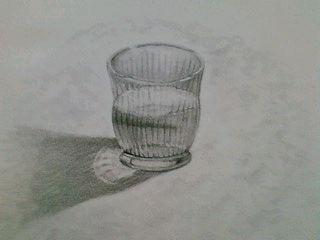 デザイン講習013 ガラス製品その2(水入り凹凸グラス) スケッチ