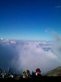 8月1日 富士山8合目付近からの雲海