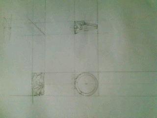 デザイン講習018 リング三面図 クロッキー