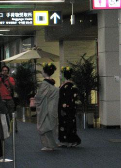 舞妓さんin鹿児島空港