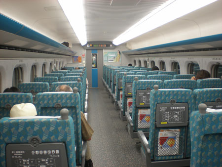 台湾高鉄 車内