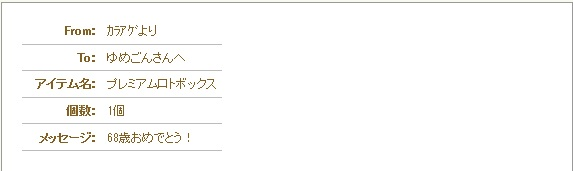 誕ぷれ№2