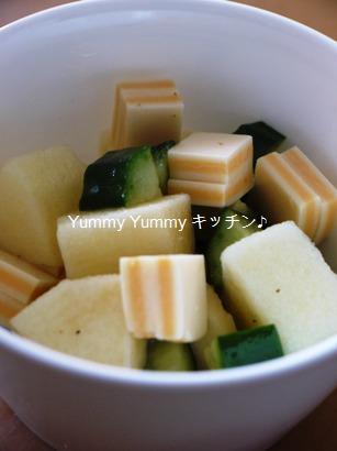 リンゴとチーズのフレンチサラダ☆