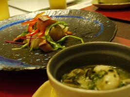 カルパッチョとオーブン焼き11.19