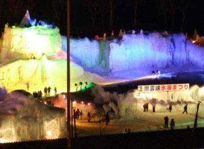 層雲峡温泉氷瀑まつり