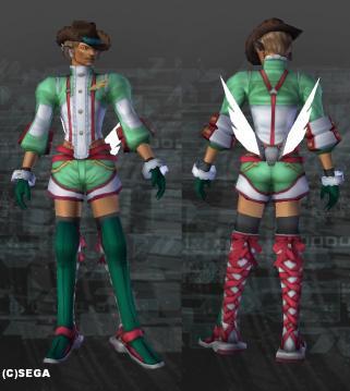 520オッソリアスーツ・緑x白