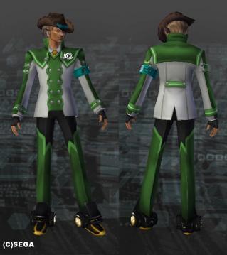 エクスキューター男子制服・緑x灰