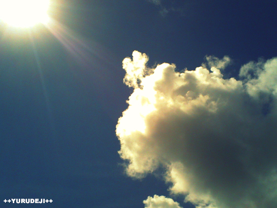 yurudeji_太陽と雲