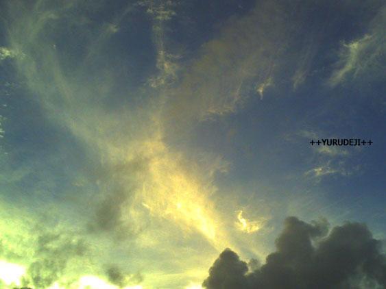 yurudeji_夕方の空