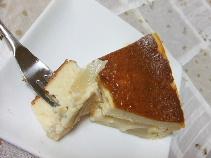 桃入りチーズケーキ