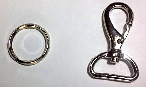 キーホルダー用金具(玉子ナス21mm) ニッケル Zavata Lab.のランドセルリメイク