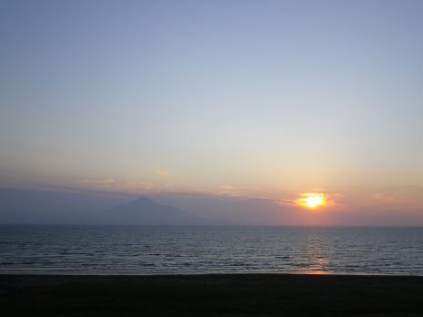 オロロンライン 夕日