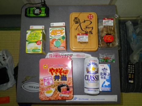 焼き鳥弁当など北海道の品々