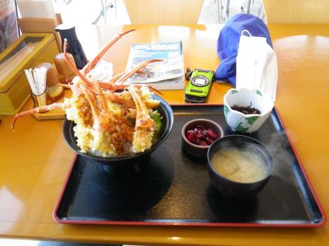 紅ズワイガニ天丼