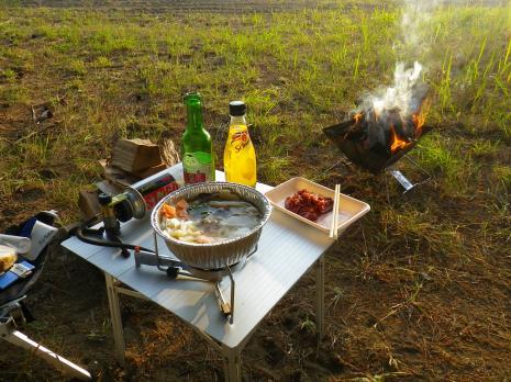 天神浜 晩飯