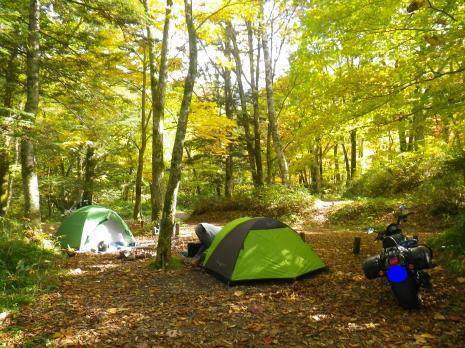 平湯キャンプ場 2012