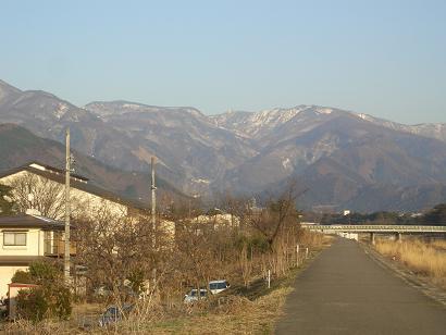 破風高原の山並(冬)