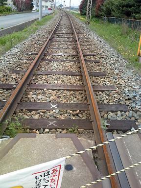 錆びた鉄路