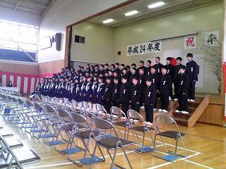 市立森上小学校H24卒業式