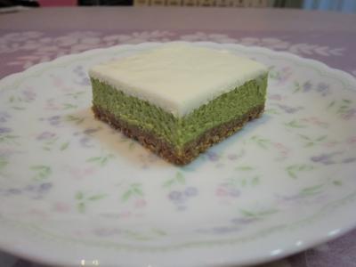 抹茶のチーズケーキ2