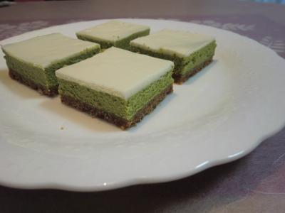 抹茶のチーズケーキ1