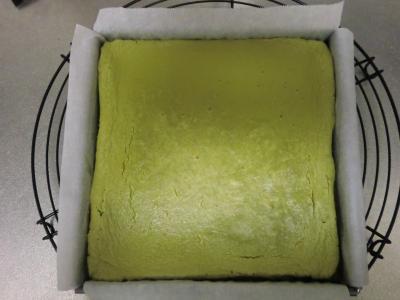 抹茶のチーズケーキ4