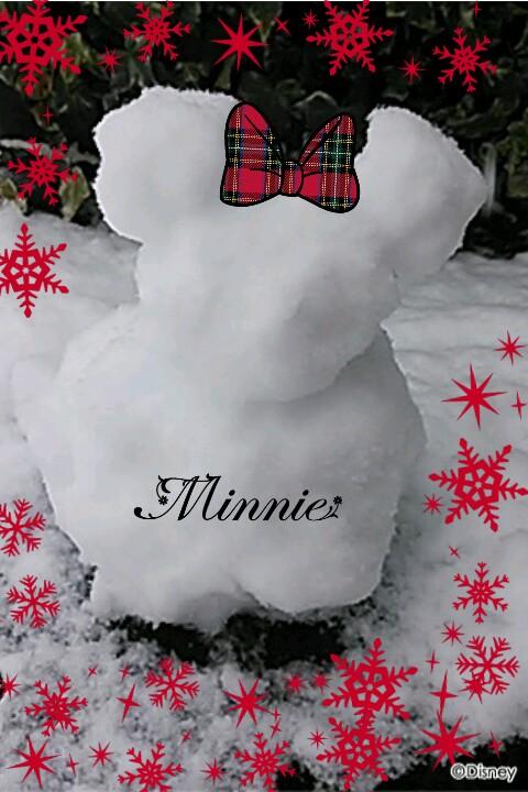 大雪&ミッキー雪だるま@関東平野